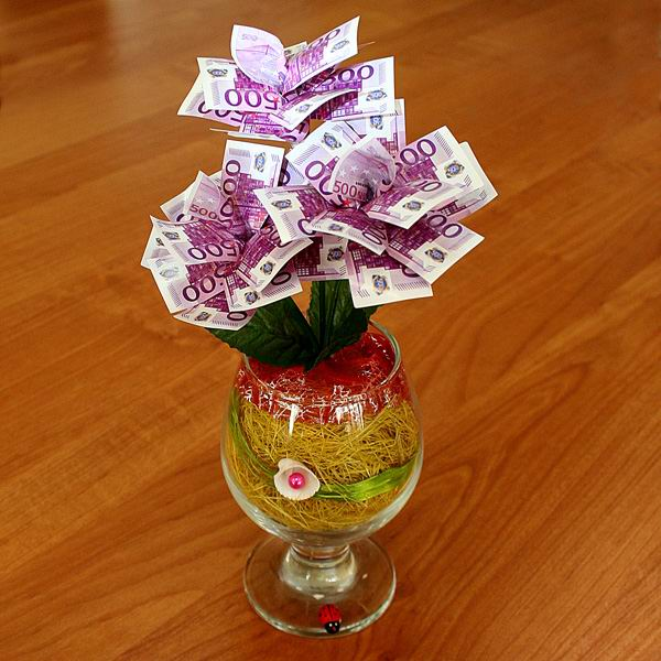 Подарок из денег видео