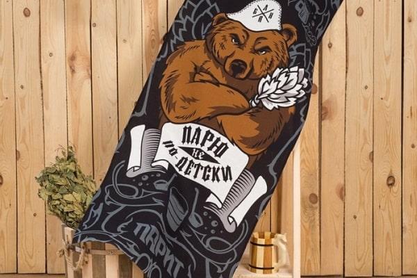 банное полотенце медведь