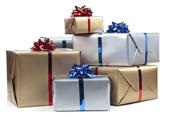 большая гора подарков