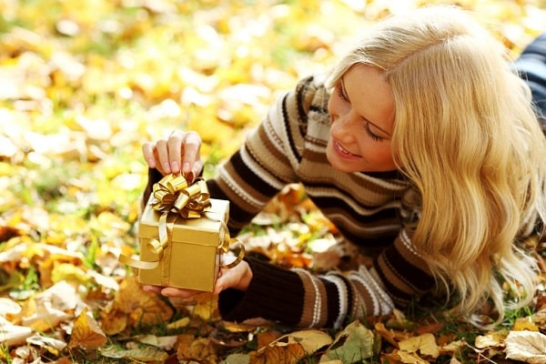 романтические подарки осенью
