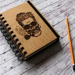 Блокнот, ежедневник, скетчбук в деревянной обложке Минск +375447651009