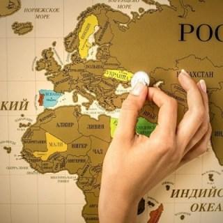 скретч карта мира, мотивационный скретч-постер #100ДЕЛ Минск