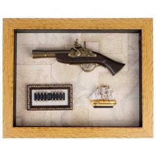 Сувенирное оружие в рамке, панно с оружием Минск +375447651009