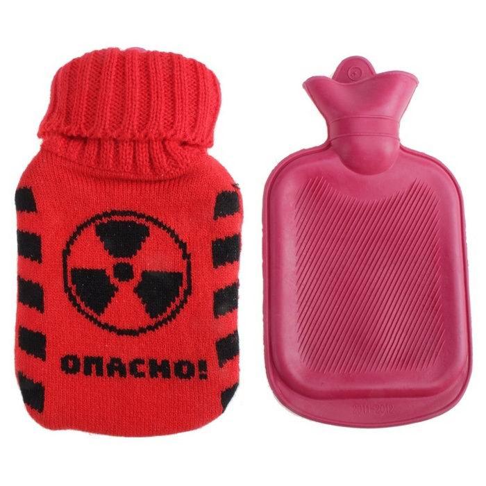 Грелка в вязаном чехле «Опасно» 0.3 литра купить в Минске +375447651009