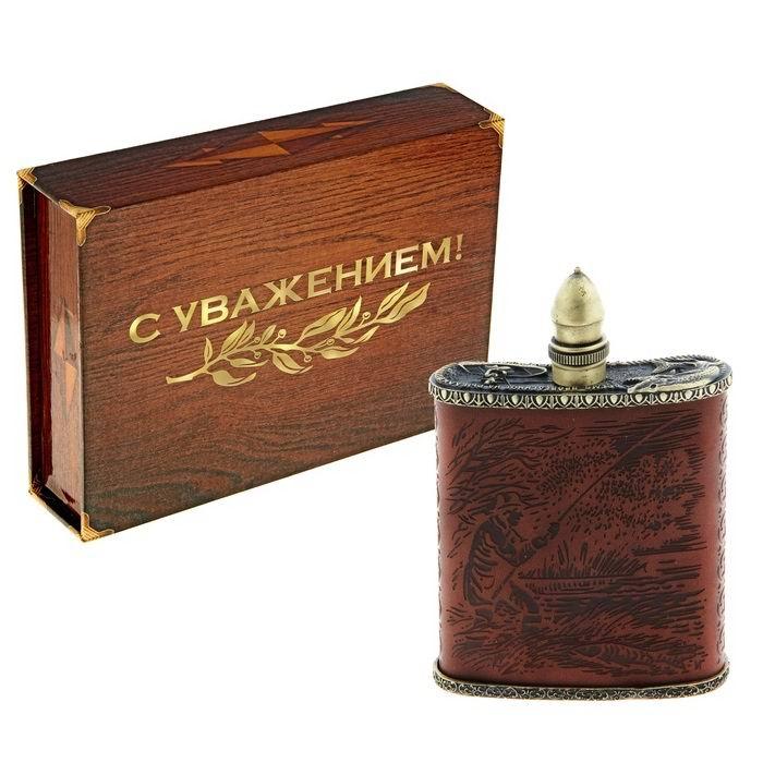 Фляжка премиум «Рыбалка» 210 мл купить Минск +375447651009