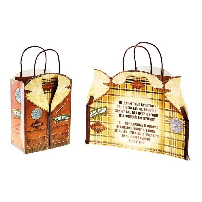 Подарочный пакет с открыткой «Джентльмен» куртка Минск