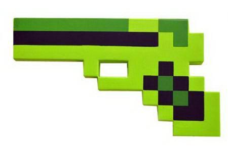 Пиксельный пистолет «Minecraft» зеленый зеленый купить Минск +375447651009