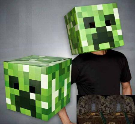 Голова-маска Крипера 'Minecraft' (майнкрафт) Минск