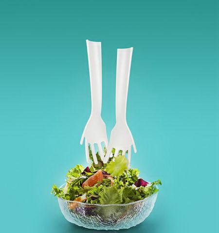 Набор ложки-мешалки для салата «Чудо руки» 2 шт. купить Минск