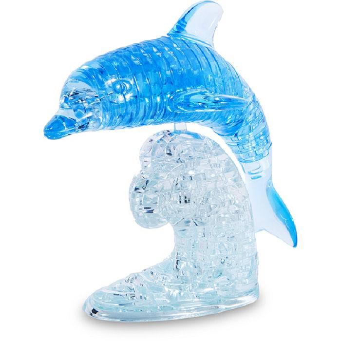 Объемный 3D пазл «Дельфин» синий 39 деталей купить Минск +375298651009