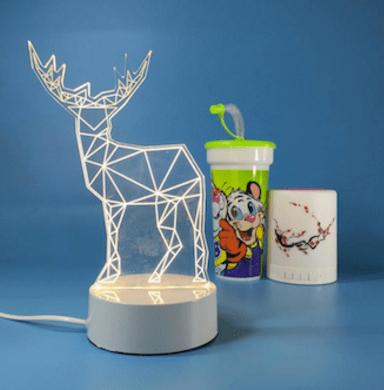 3d светильник олень купить в Минске +375447651009