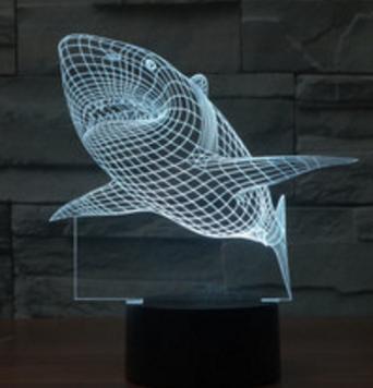 3D светильник «Акула» Минск +375447651009