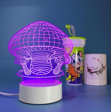 3d светильник грибы купить в Минске +375447651009