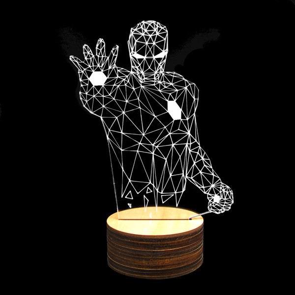 3d светильник «Железный человек» купить Минск