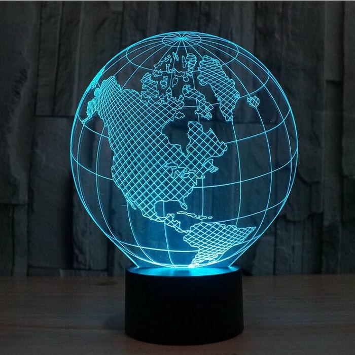 3D светильник «Глобус» АКЦИЯ Минск