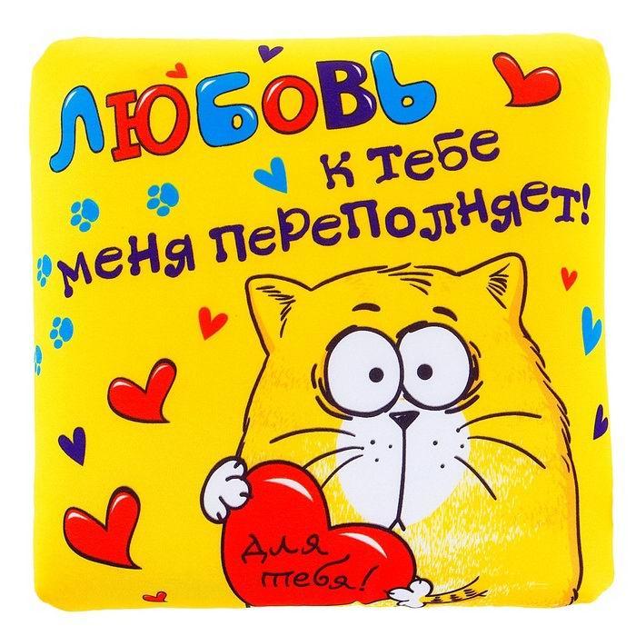 Подушка - антистресс «Любовь к тебе меня переполняет!» купить в Минске +375447651009