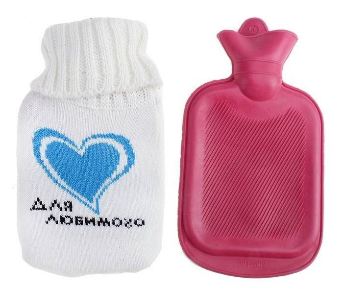 Грелка в вязаном чехле «Для любимого » 0.3 л. купить в Минске +375447651009