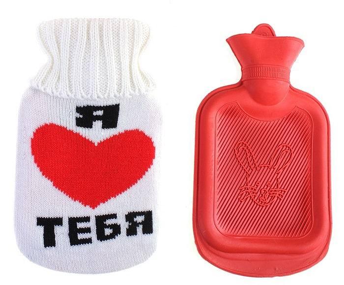 Грелка в вязаном чехле «Я люблю тебя»  0.3 л. купить в Минске +375447651009