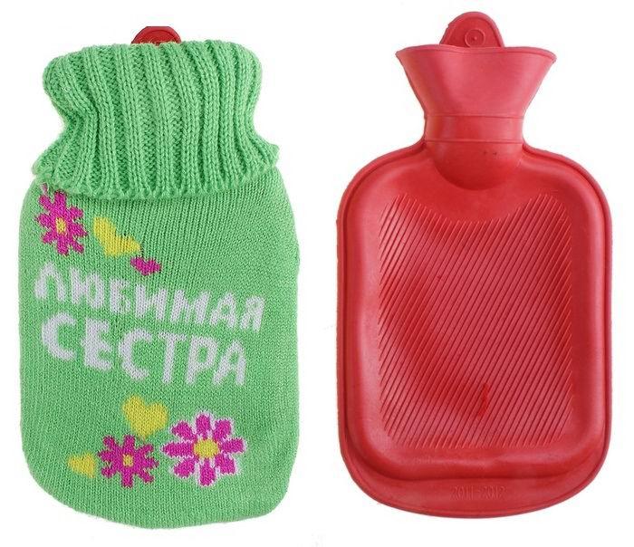 Грелка в вязаном чехле «Любимая сестра»  0.3 л. купить в Минске +375447651009