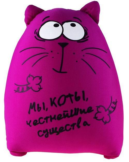Игрушка - подушка антистресс «Мы, коты, честнейшие существа» Минск +375447651009