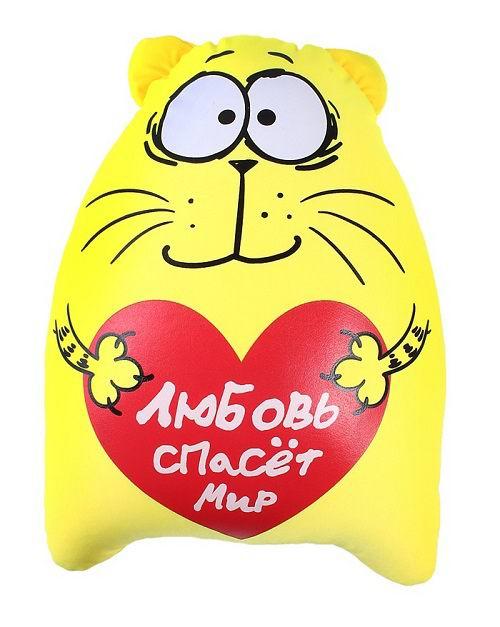 Игрушка - подушка антистресс «Любовь спасет мир» купить Минск