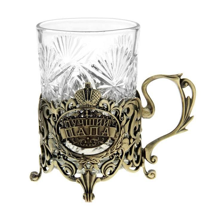 Подстаканник со стаканом «Лучший папа» купить в Минске +375447651009
