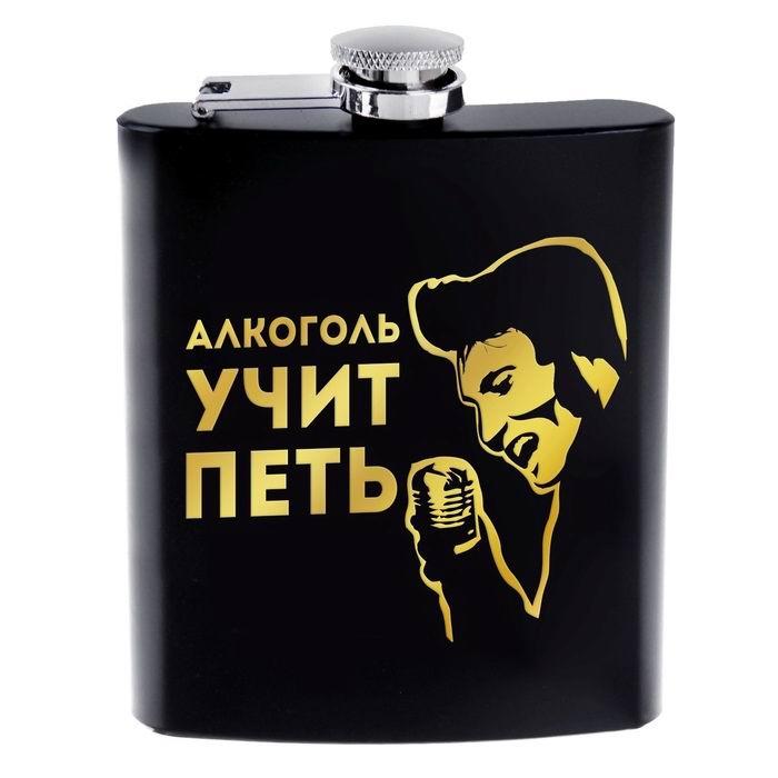 Фляжка «Алкоголь учит петь» 210 мл Минск +375447651009