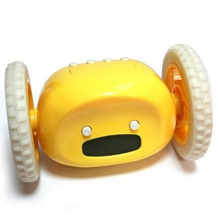 Убегающий будильник  на колесах жёлтый купить Минск
