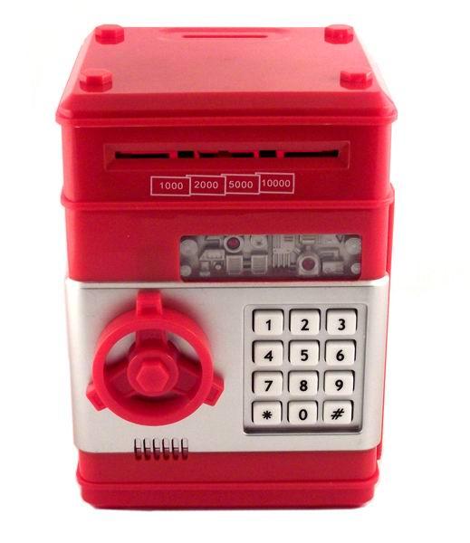 Копилка сейф с купюроприемником красный купить