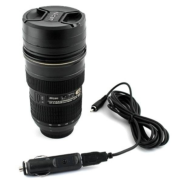 Термокружка объектив от фотоаппарата E6 Nican с подогревом купить