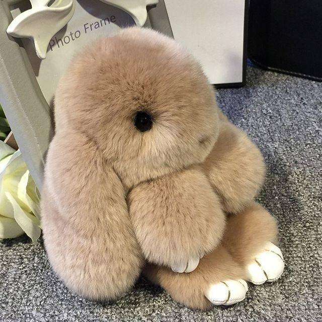 Брелок кролик из натурального меха Минск