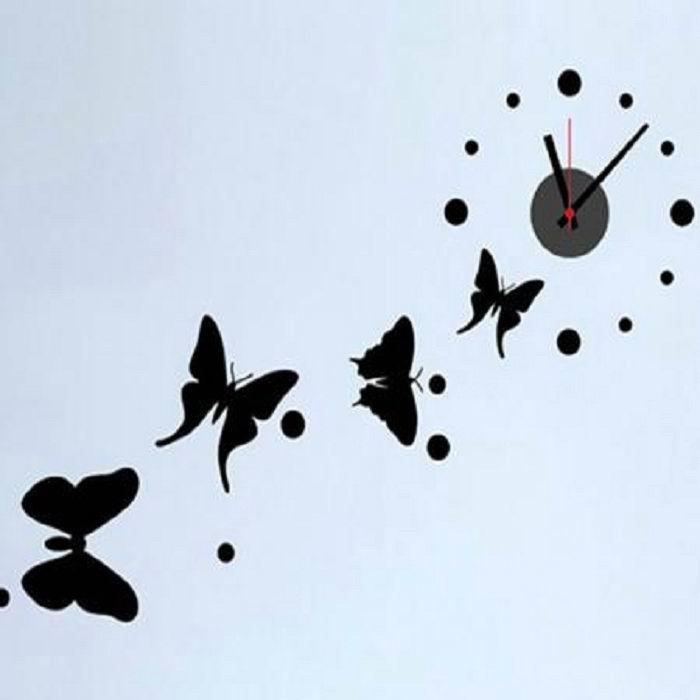 часы - наклейки на стену