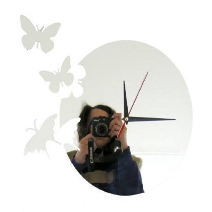 Часы настенные зеркальные Бабочи
