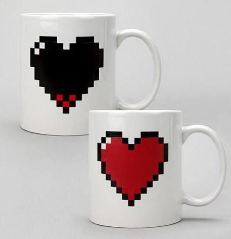 Кружка хамелеон «Сердце пиксели» Минск +375447651009