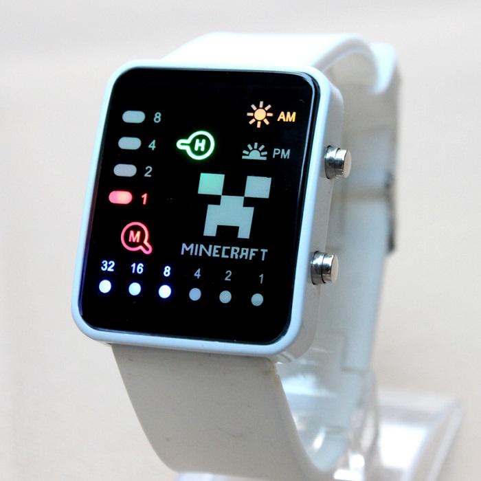 Часы наручные «Minecraft» (Майнкрафт) белые купить в Минске +375447651009