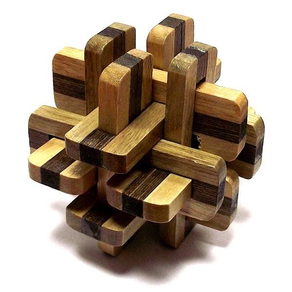 Деревянная головоломка «Цветной ёжик» №05 купить в Минске +375447651009