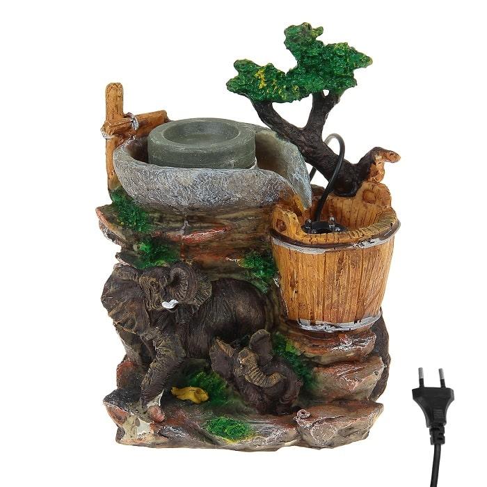 Фонтан декоративный «Два слона» световой купить в Минске +375447651009