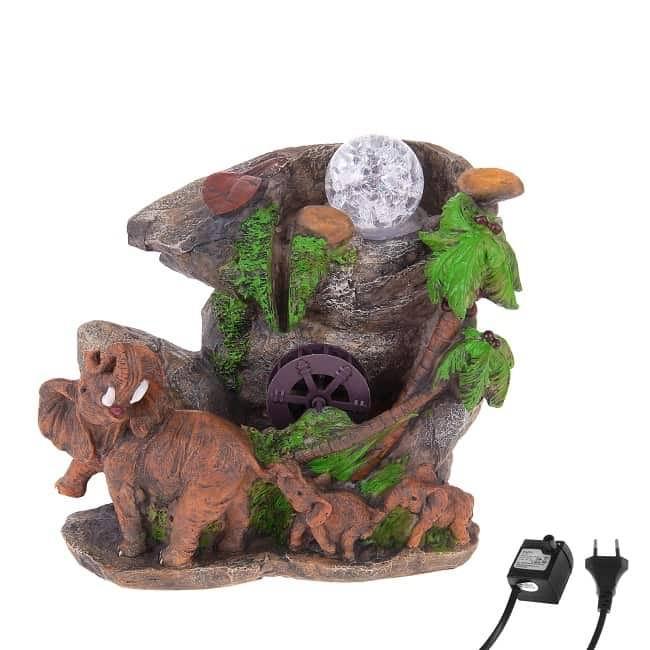 Фонтан декоративный «Слоны у мельницы» световой Минск +375447651009