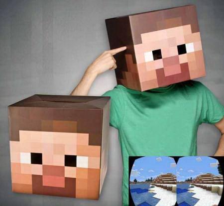 Голова-маска Стива «Minecraft» купить Минск +375447651009