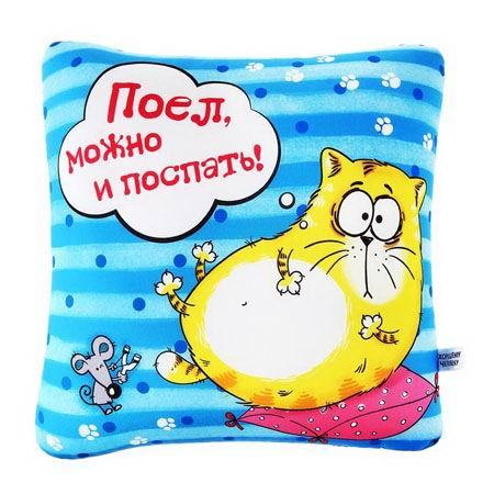 Подушка - антистресс Котэ «Поел,можно и поспать!» Минск