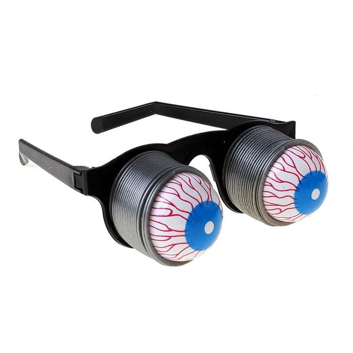 Карнавальные очки с выпадающими глазами купить в Минске +375447651009