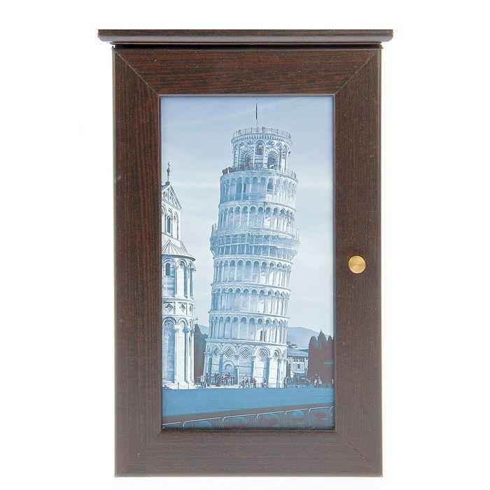 Ключница деревянная «Пизанская башня» цвет венге купить в Минске +375447651009