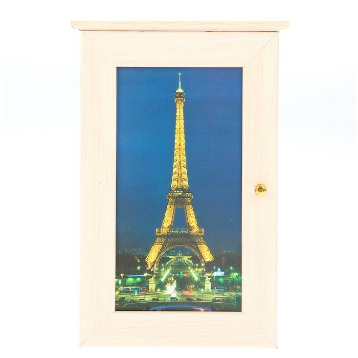 Ключница деревянная «Париж» купить в Минске +375447651009