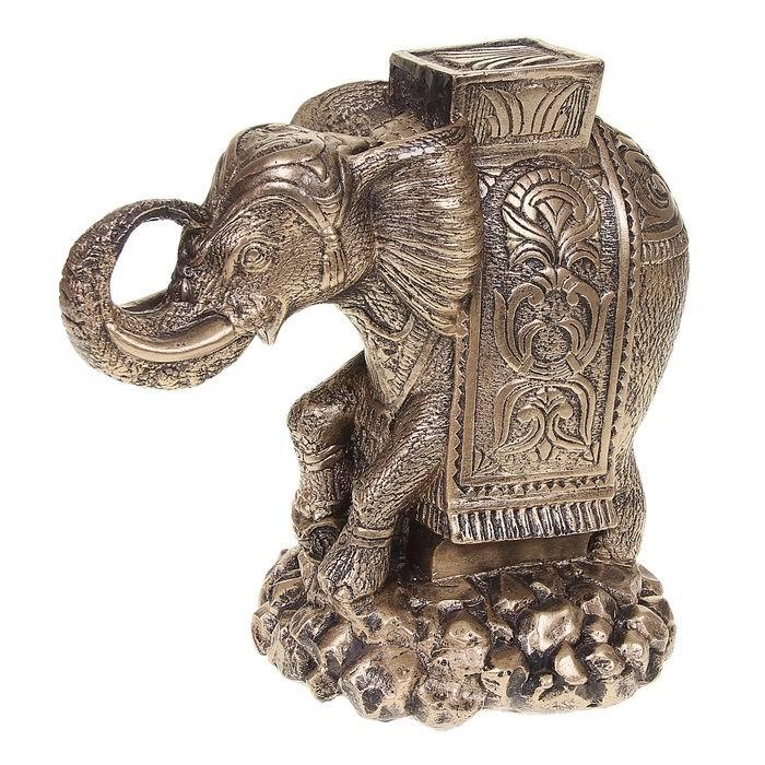 Копилка «Денежный слон» цвет золото купить Минск