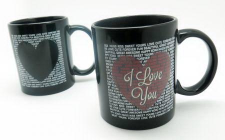 Кружка хамелеон сердце «I love You» черная Минск +375447651009