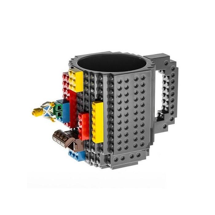 Кружка «LEGO» с конструктором серая Минск +375447651009