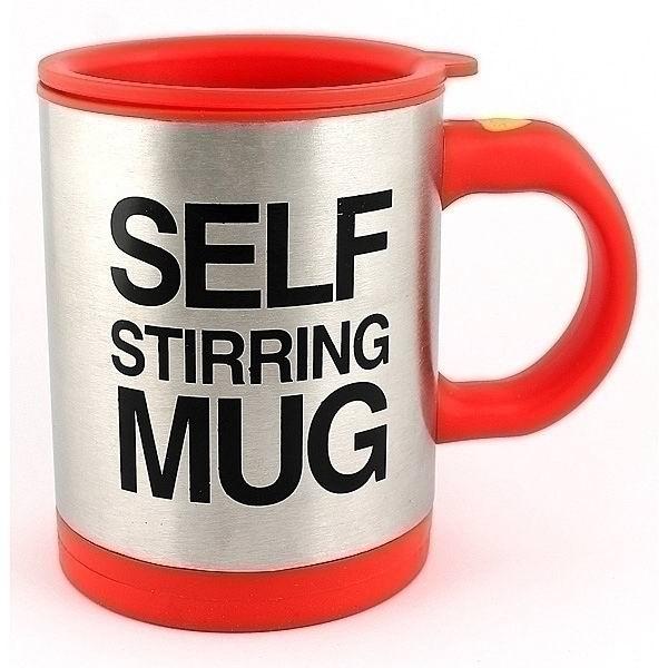 Кружка мешалка «Self mug» красная купить в Минске +375447651009