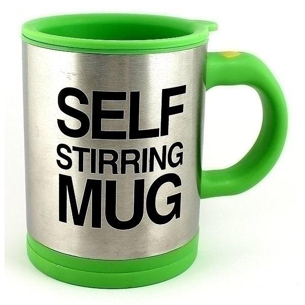 Кружка мешалка «Self mug» зеленая купить в Минске +375447651009