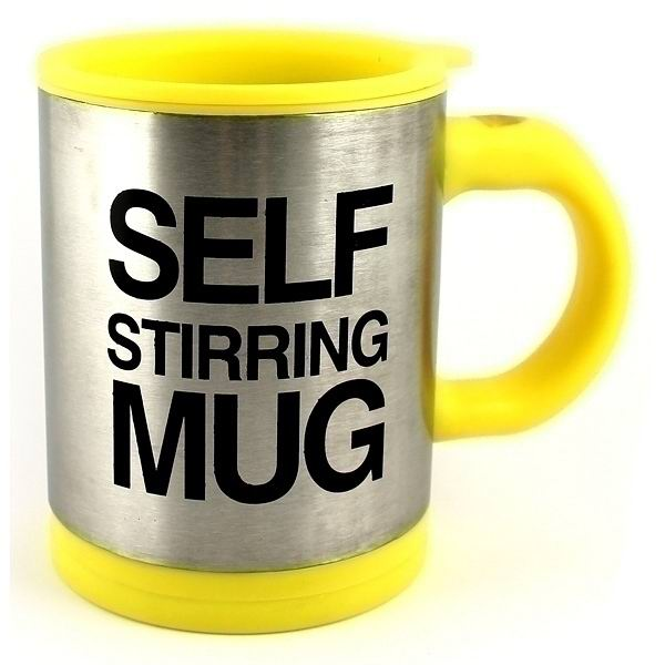 Кружка мешалка«Self mug» желтая купить в Минске +375447651009