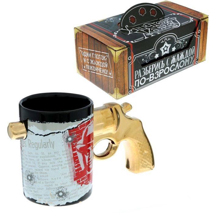 Кружка с ручкой револьвер «Крестный отец» Минск